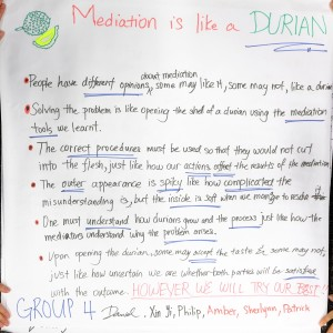 Mediation is like a Durian